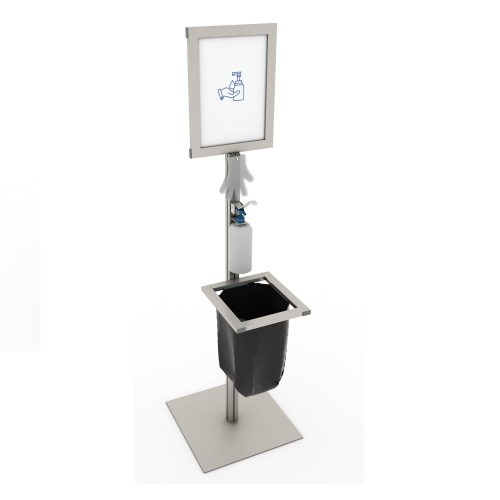 Simple stad with elbow dispenser and bin