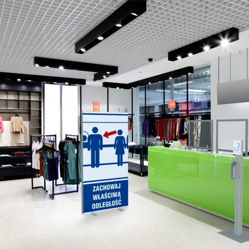 Safe shops, chain stores and showrooms