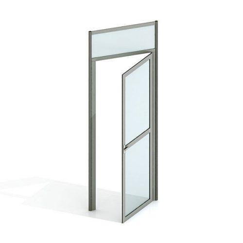 Drzwi aluminiowe zościeżnicą
