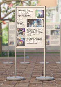 System ścianek ekspozycyjnch
